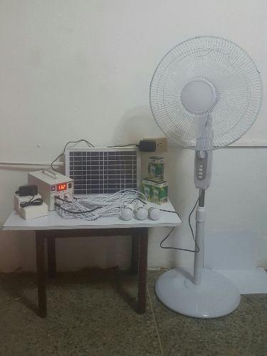 Ventilador De 16 Pulgadas Con Panel Solar