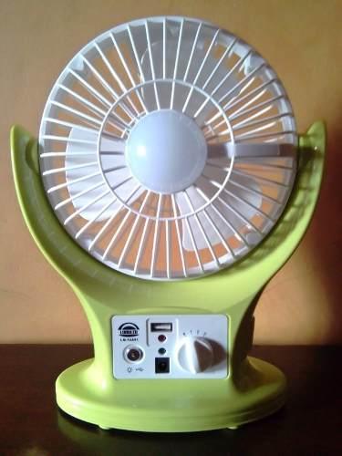 Ventilador Portátil Recargable Con Luz Led