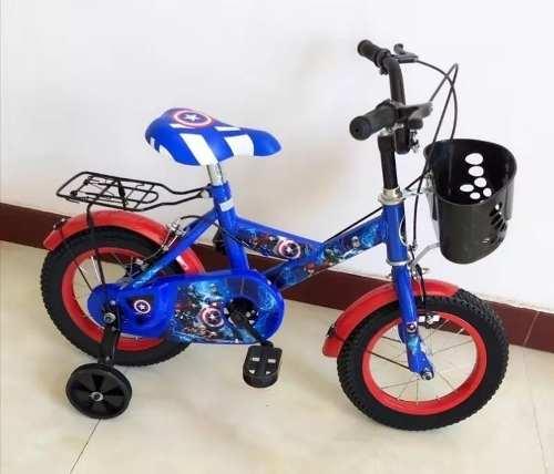 Bicicleta Rin 12 Para Niño. 70v Color Negro Verde
