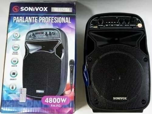 Corneta Amplificada 6.5 Pulgada Sonivox Portátil Bluetooth