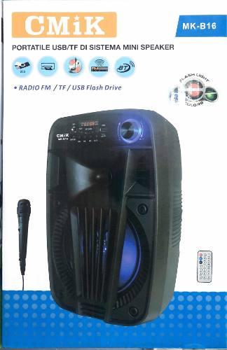 Corneta Bluetooth Con Radio Usb Luminosa Con Microfono