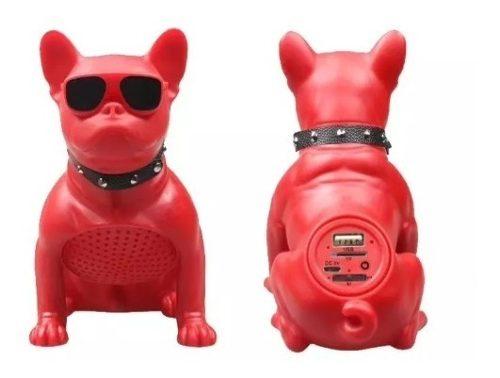 Corneta Portátil Recargable Bluetooth Bulldog Perro Speaker