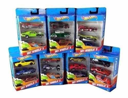 Hot Wheels Carros X 3 Autos Mattel Entrega Inmediata Oferta