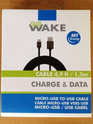 Cable Micro Usb Wake Para Carga Y Datos 1.5mts