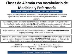 Clases, curso de Alemán para Medicos y Enfermeros