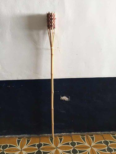 Antorchas De Bambu Para Eventos Jardin