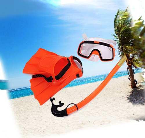 Kit Snorkel Buceo Careta Playa Chapaletas Set