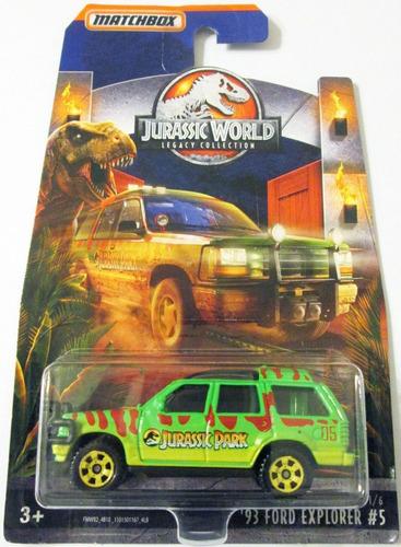 Matchbox Jurassic World ´93 Ford Explorer E:1/64 Mide 7 Cm.