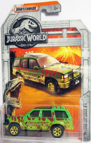 Matchbox Jurassic World  Ford Explorer E:1/64 Mide 7 Cm