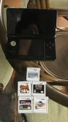 Nintendo 3ds Con 5 Juegos. Se Vende Combo Completo. 50 Usa