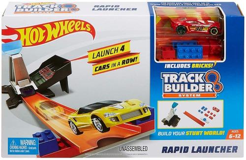 Pistas Hotwheel Track Builder Lanzador Carros Hot Wheels