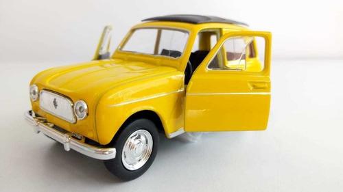 Renault 4, Color Amarillo, Escala cms Largo, Metalic