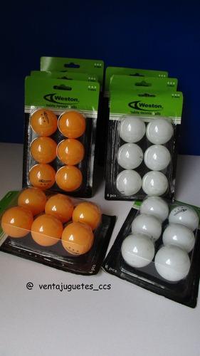 Pelotas De Tenis De Mesa Ping Pong Marca Weston 6 Vrds