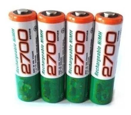 Pilas Baterías Gp Recargables Doble Aa De 2700 Mah Nuevas