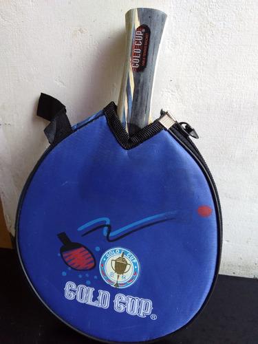Raqueta De Ping Pong Gold Cup Tenis De Mesa Y Su Forro Vinil