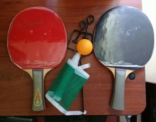 Set De Ping Pong Gold Cup (2 Raquetas+malla+1 Pelota)