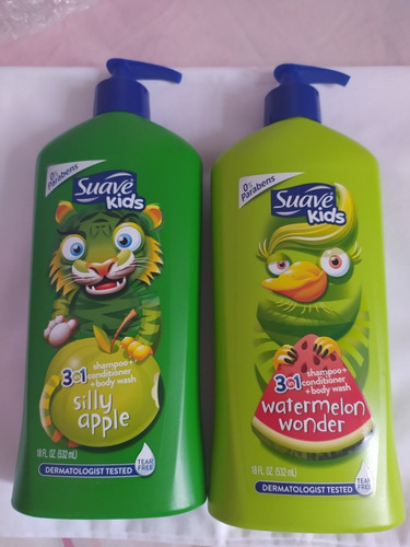 Shampoo Para Niños 3 En 1 Suave Kids 532ml