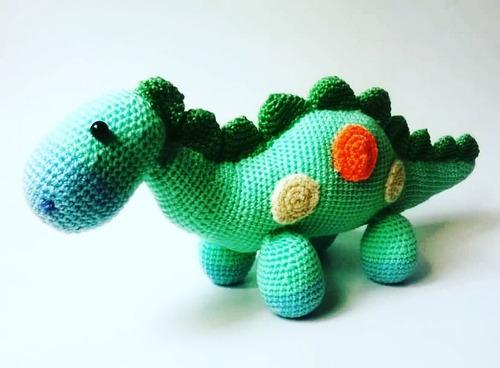 Amigurumi Dinosaurio Tejido En Crochet