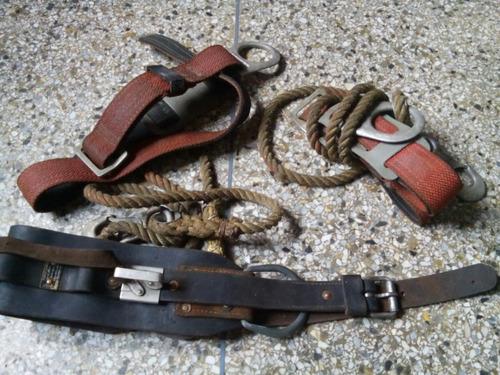 Cinturón Nylon Seguridad Trabajo En Altura