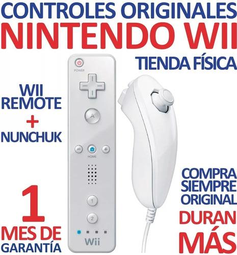 Excelente Control Wii Remote +nunchuk Para Nintendo Wii (30v