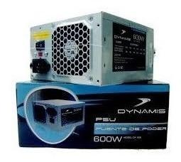 Fuente De Poder Pc Dynamis 600w Conector Sata  Pines