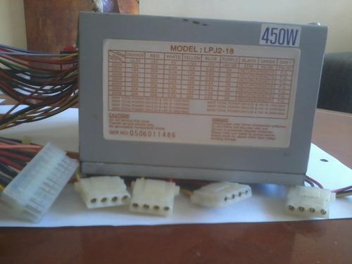 Fuentes De Poder Para Pc 450w Modelo Lpj2-18