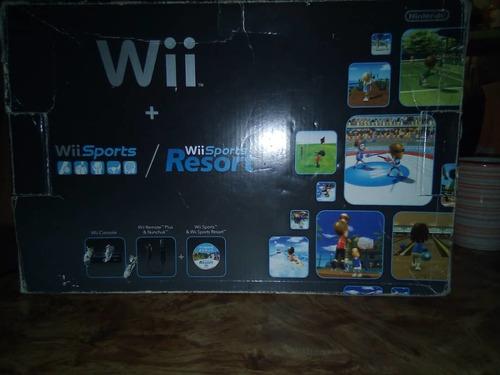 Nintendo Wii Negro Nuevo En Su Caja