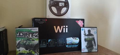 Wii Color Negro En Caja Con Todos Sus Accesorios.