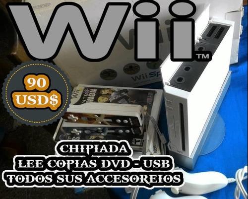 Wii Usado Con Todos Sus Accesorios Originales
