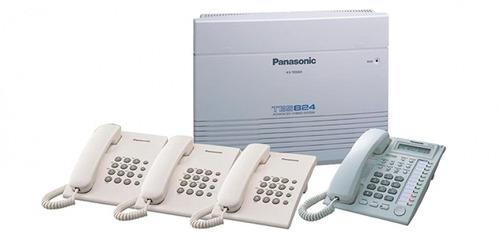 Central Telefónica Panasonic Kx Tes 824 Con 6 Telefonos.