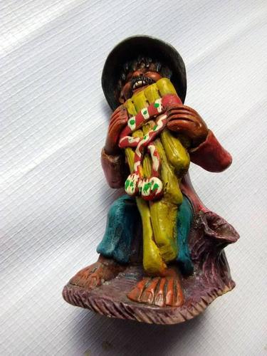 Figuras De Barro Talladas A Mano 11 Cms De Alto Musico