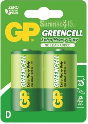 Pilas Tipo D Gp Greencell Blister De 2 Pack 3 Blister