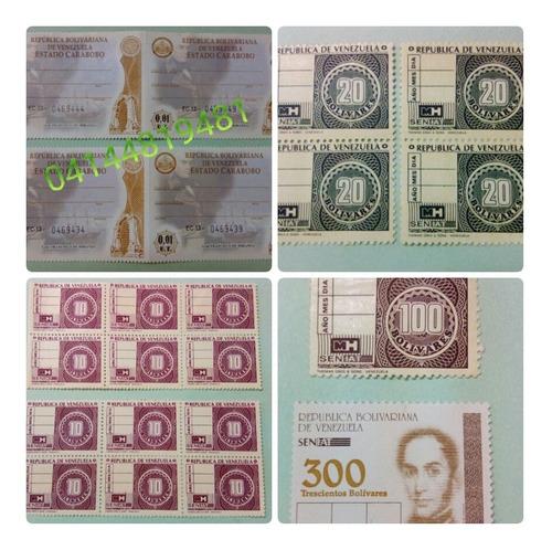 Timbres Fiscales Republica De Venezuela Doc. Vigentes (1$)