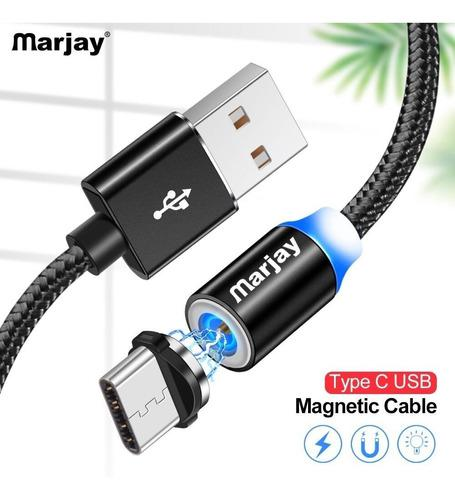 Cable Usb Magnetico Para Carga Micro, iPhone, Tipo C Cod 597