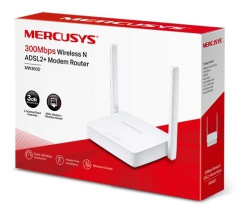 Módem Router Inalámbrico N Adsl2 + De 300 Mbps Mw300d