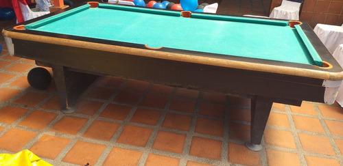 Mesa De Pool Profesional De Madera. 1.48x2.68m ( Verds)