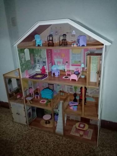 Casa De Muñecas Barbie Mansión Económica Con Accesorios