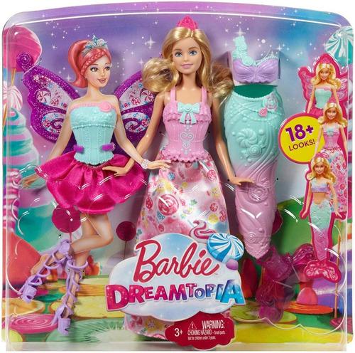Muñeca Barbie Fairytale Con Varios Vestidos 100% Original
