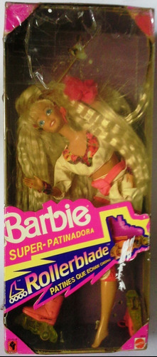 Muñeca Barbie Super-patinadora En Su Caja Original