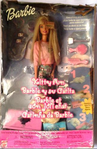 Muñeca Barbie Y Su Gatita Kitty Fun En Su Caja Original