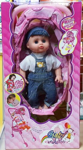 Muñeca Con Coche Baby Carriage Somos Tienda Cod 612