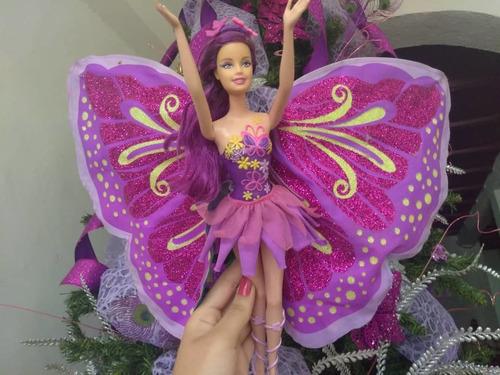 Vendo Barbie Princesa Mariposa Original Usada Casi Nueva