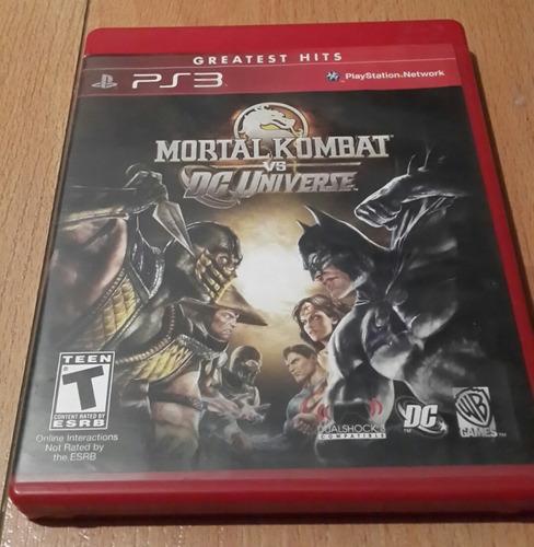 Juego De Ps3 Mortal Kombat Vs Dc Universe (usado)