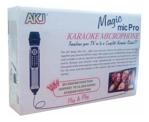 Microfono Karaoke Magic Mic Pro  Canciones Sd Mp3 Alta C
