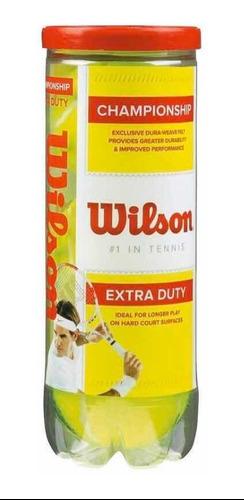 Pelota Tennis Wilson C Extra Duty 3 Pza Kt 6