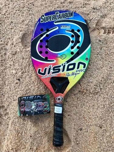 Raqueta De Beach Tennis Vision Super Carbon Pro