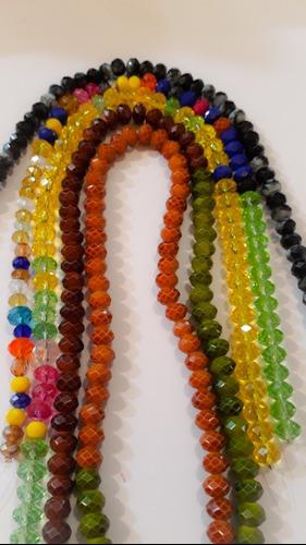 5 Tiras De Cristales Surtidos, Para Bisuterìa $10