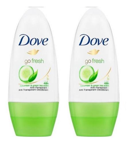 Desodorante Dove Roll On Go Fresh Cucumber Mujer 50 Ml 2pack