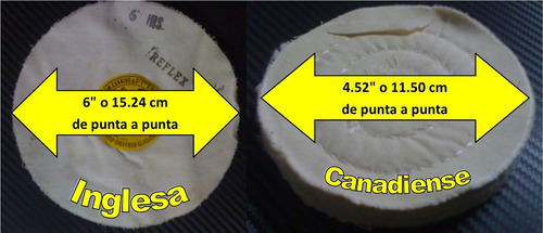 Dos Discos O Mopas Para Pulir Joyeria (inglesa Y Canadiense)