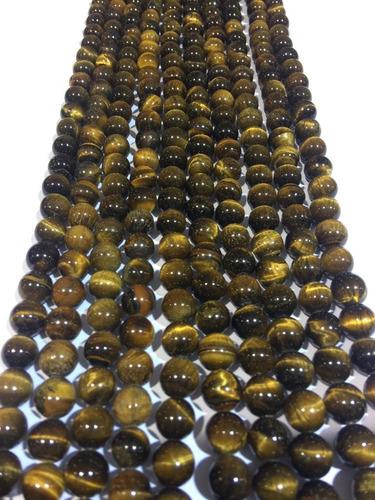 Piedras De Ojo De Tigre 12mm Ref.  Combo 2 Unidades